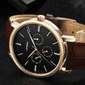SINOBI 2016 New Fashion Leather Quartz Watch Men High Quality 3 Small Dial Business Men's Watch Top Luxury Relogio Masculino