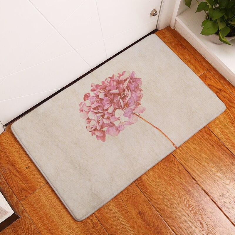 Modern Style Simple Print Carpets Anti Slip Floor Mat