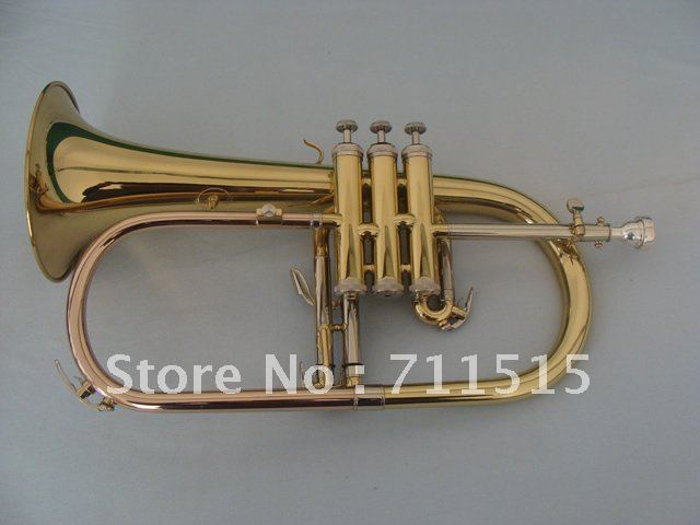 Beautiful Gift Brass Flugelhorn Professional BB Trumpet Monel Valves Trompeta Professional Musical Instrument