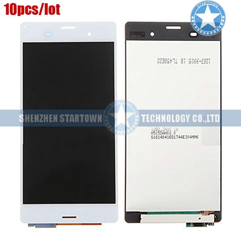 10 pcs/lot Original nouveau LCD écran tactile numériseur assemblée pour Sony Xperia Z3 D6603 D6643 D6653 L55u L55t (blanc)