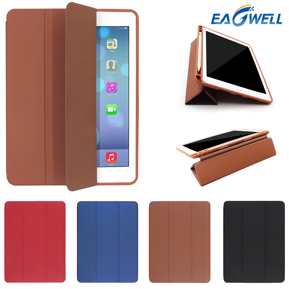 Tablet Case Cover For Apple iPad Pro 12.9 inch (2017 2nd Gen ) PU Leather Flip Case With Pencil Holder Protective Cover Shell