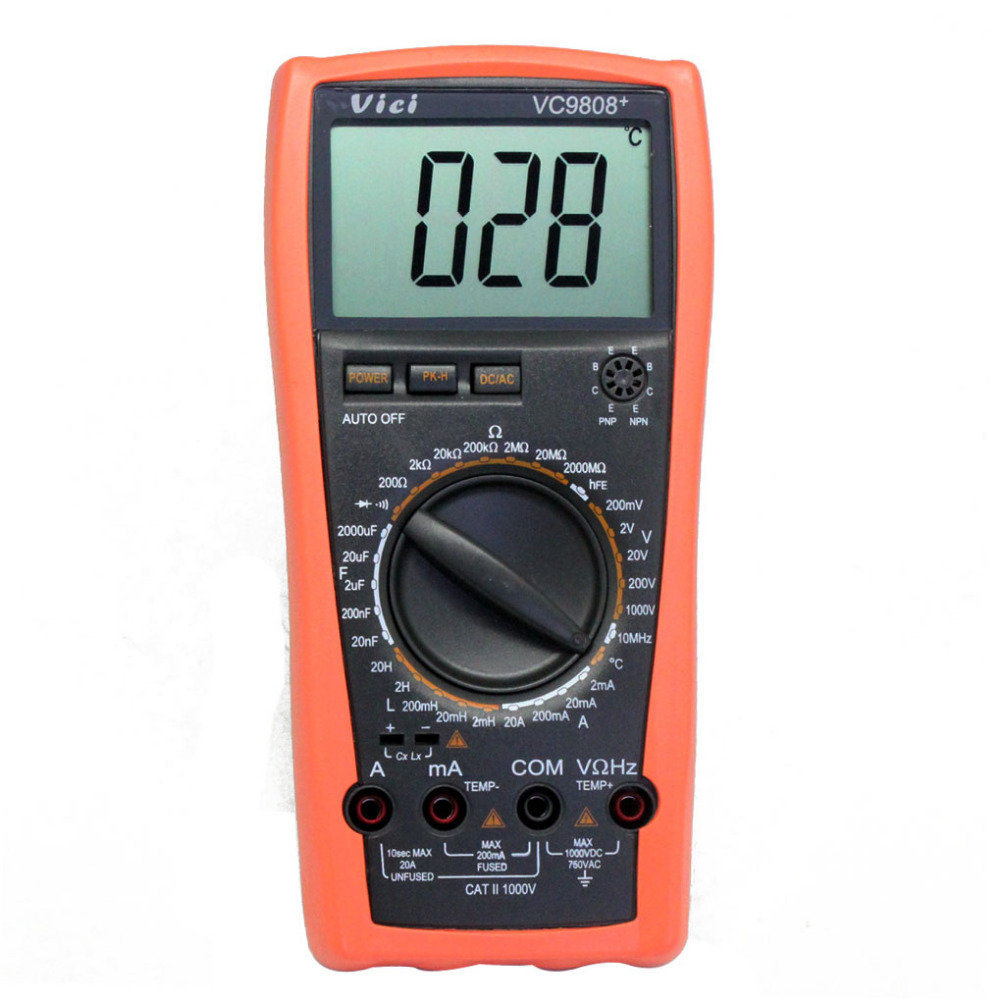 цены VICI VC9808+3 1/2 Digital multimeter DCV ACV DCA/R/C/L/F