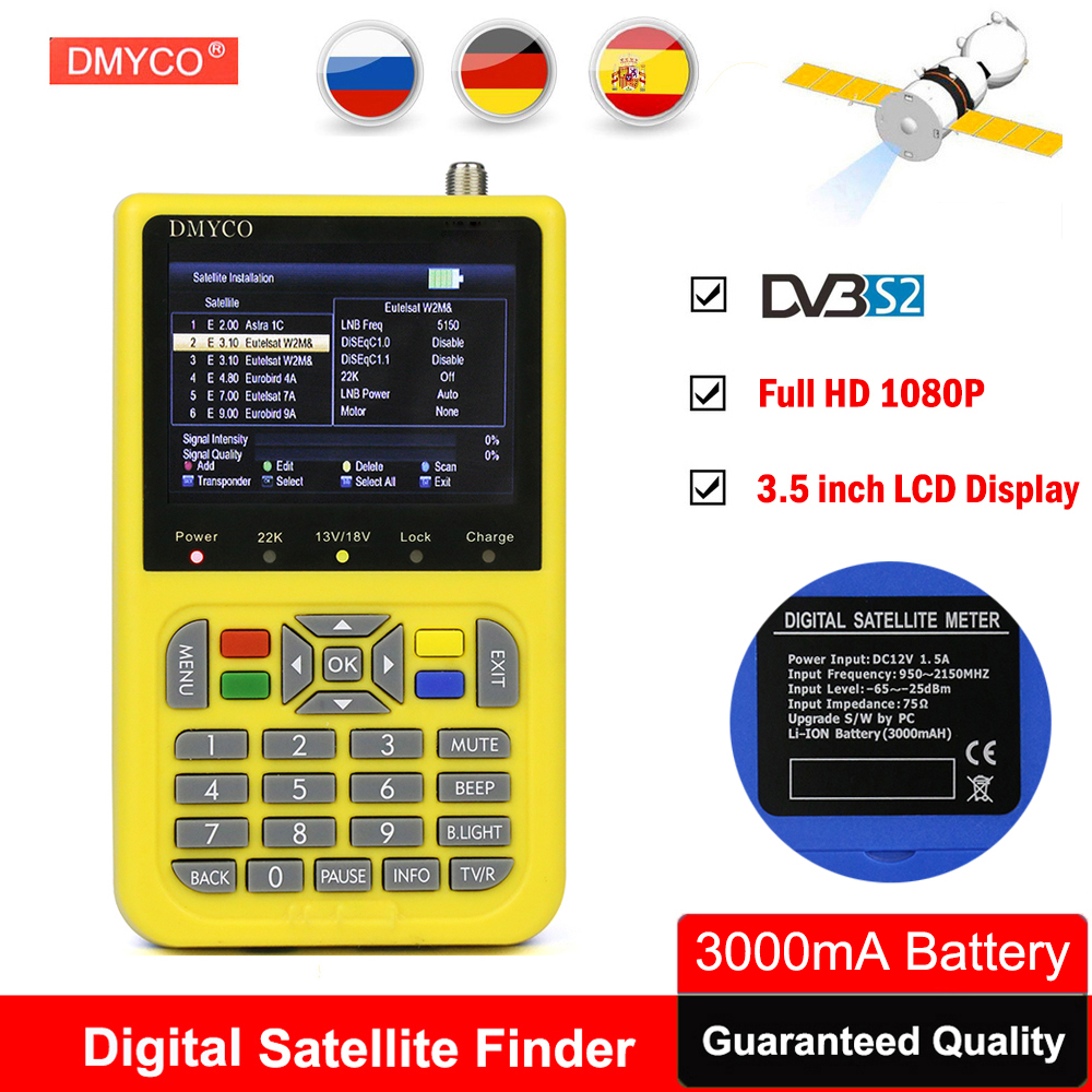 TV Finder HD Satellite Finder With 3 5 inch LCD Digital SatFinder DVB S2 tv tuner