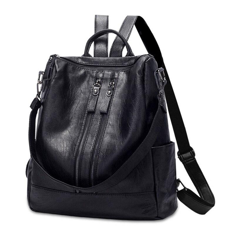 Women Fashon Girls Hot Backpack Purse Waterproof PU Leather School Hiking Travel Shoulder Bag for Ladies 2019 New Arrival