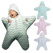 New Cute Starfish Baby Sleeping Bag Unisex Winter Babies Sleep Sack Warm Baby Blanket Swaddle Sleepsacks dropshipping COOL
