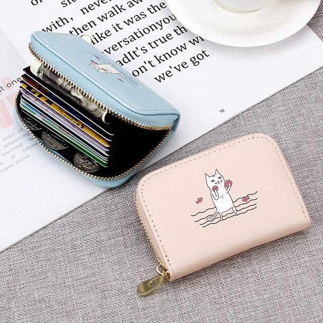 Милый мультфильм аниме ПУ компактный кожаный бумажник мини Для женщин маленький клатч женский портмоне держатель для карт для девочек прекрасный мини кошелек