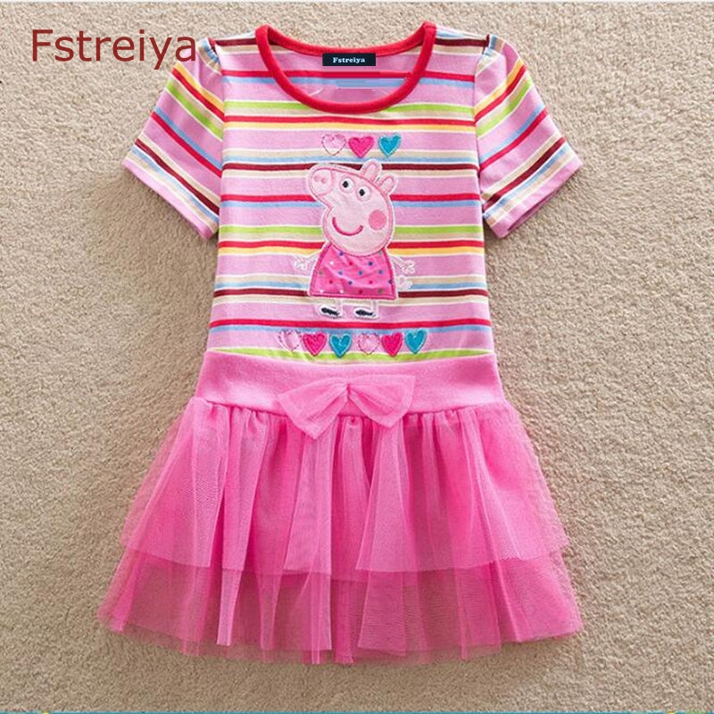 Fstreiya Baby girl Layered dress toddler girls summer floral dress princess kids peppa pig dresses 2018 children costume clothes lovely toddler kids baby girl summer dress bunny ear short sleeve hooded outfit one pieces princess children dresses sundress