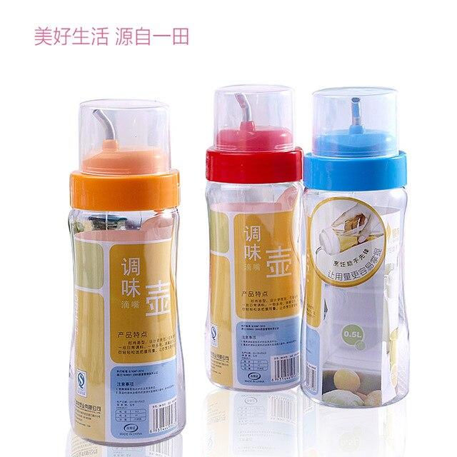 Smart Garments Plastic Oiler Oil Leak Sauce Bottle Vinegar Condiment Bottles Kitchen Cruet 500ml