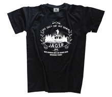 Leg dich nie mit einem an - Jagd Jagen Jagdhund Hunter T-Shirt Fashion Classic Unique free shipping