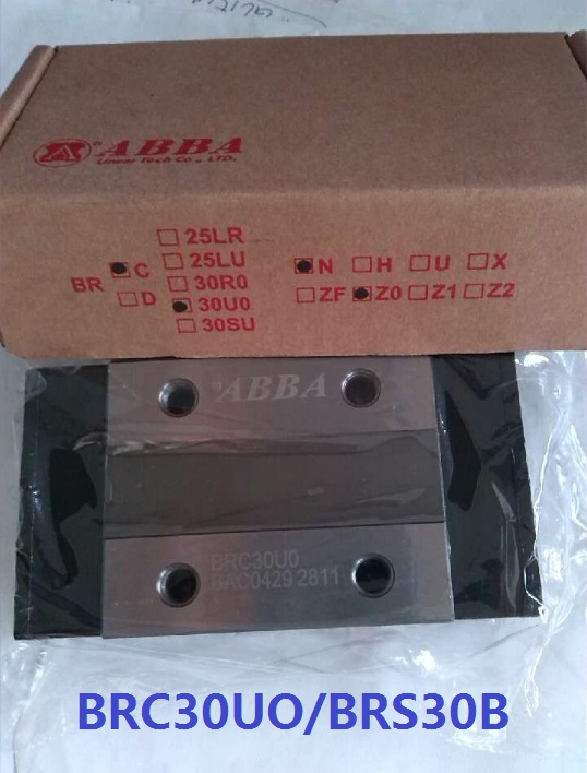 6pcs Original Taiwan ABBA BRC30U0/BRS30B Slider Block Linear Rail Guide Bearing for CNC Router Laser Machine 3D printer large format printer spare parts wit color mutoh lecai locor xenons block slider qeh20ca linear guide slider 1pc