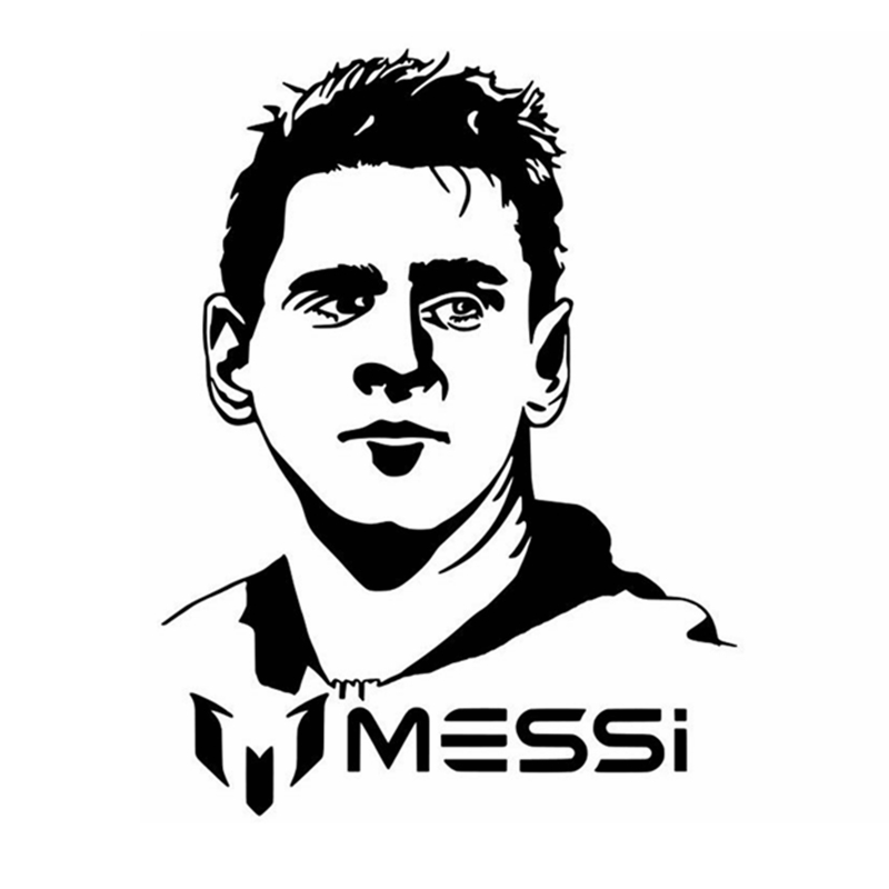Messi Football Player Sticker Sports Soccer Car Decal Helmets Kids Room Posters Vinyl Wall Decals Football Sticker