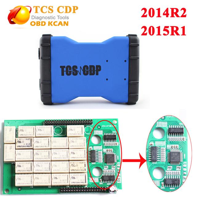 Nueva VCI TCS CDP sin bluetooth tcs cdp pro plus car/truck herramienta de diagnóstico multidiag 2014R2 o software como mvdiag 2015R1 pro