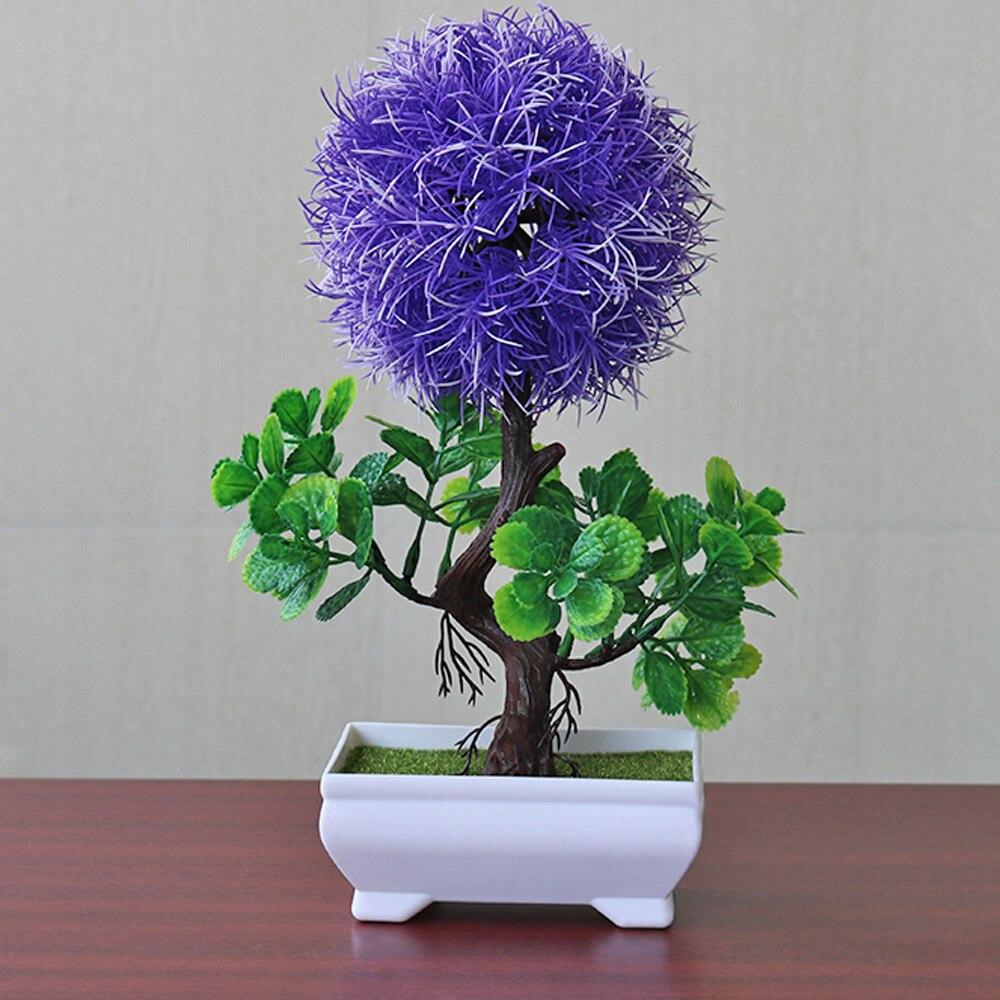 Имитация горшков растения искусственные цветы растение садовое украшение легкий Snapdragon мяч Мода - Цвет: purple