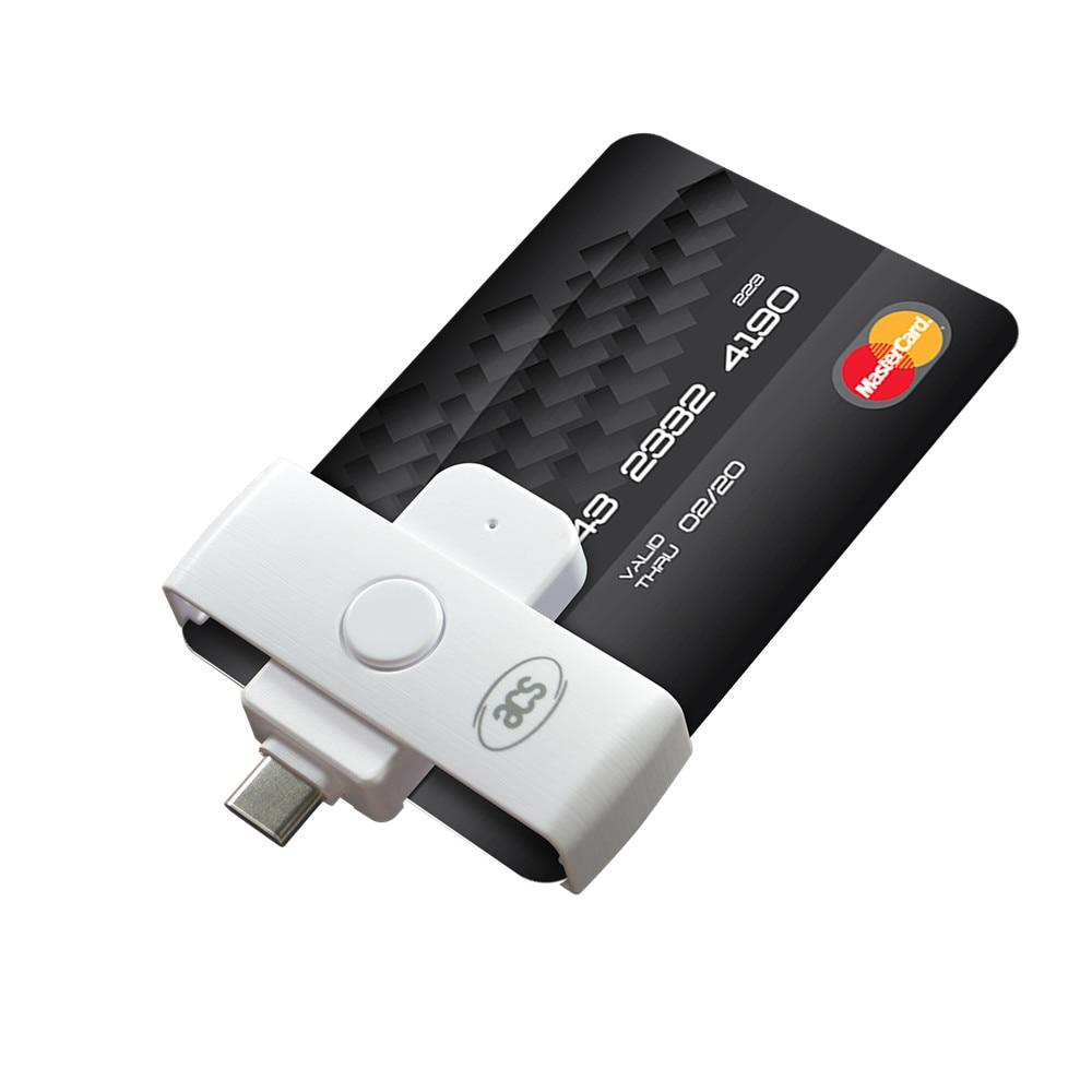 ACR39U-NF Pocketmate II Smart Card Reader (USB Type-C) For CAC and PIV cards Thunderbolt 3, SLE4442 SLE4428 AT24C64 Memory Cards 668 usb 3 1 type c card reader