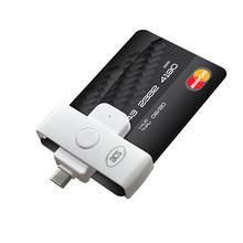 ACR39U-NF Pocketmate II Smart Card Reader (USB Type-C) For CAC and PIV cards Thunderbolt 3, SLE4442 SLE4428 AT24C64 Memory Cards