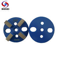 RIJILEI 15 Pieces Metal Bond Diamond Grinding Disc 3inch Concrete Grinding Shoes Plates floor marble Grinding polishing pad U10