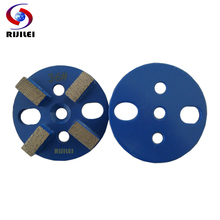 RIJILEI 3inch 24*10mm*4T Metal Bond Diamond Grinding Disc Concrete Plates floor finishing marble polishing U10