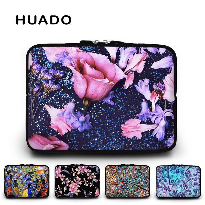 Flower waterproof laptop sleeve 13.3 15.6 12.5 women notebook bags cover 10 12 17 case for mi notebook pro 13/mac air 11/asus