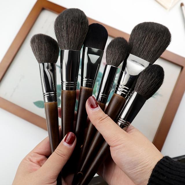 OVW 1Pcs Oblique Head Blush Makeup Brush Face Cheek Contour Cosmetic Powder Foundation Blush Brush Angled Makeup Brush Tools 2