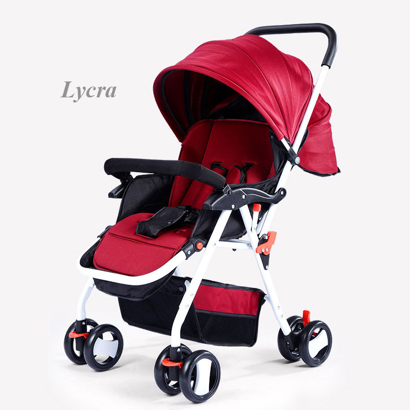 Baby Four Wheels Stroller Can Sit Lie Down Baby Trolley Portable Ultra Light Shockproof Newborn Baby Carriage Wheelchair PramBaby Four Wheels Stroller Can Sit Lie Down Baby Trolley Portable Ultra Light Shockproof Newborn Baby Carriage Wheelchair Pram