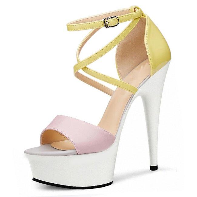 15 01 Orteils Peep Talons Gladiateur Femmes Sandales Sexy Cm 03 À Chaussures Romain Hauts 878vRxqzw