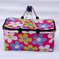 2015 new Double handle folding basket shopping basket picnic basket/insulation