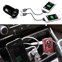 1x Car Truck Dual 2 Port USB Mini Charger Adapter for iPhone Black 12V Power цена в Москве и Питере