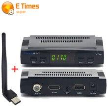 2016 receptor de satélite de Tv Digital decodificador de satélite Freesat HD V7 Dvb-s2 1080 P soporte USB Dongle Wifi youpron set top caja