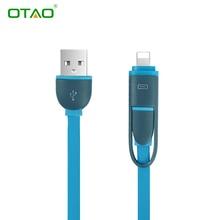 Высокое качество 2 в 1 кабель micro usb 1 m зарядки мобильного телефона кабели для iphone 6 5s зарядное устройство ios данные для samsung galaxy android