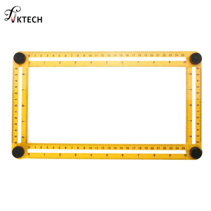 Multifunctional ABS Plastic Angle-izer Measuring Tool Four-Sided Ruler Measure Tools Accurate for Woodworking Handmen 7 colors kid infant foot measure gauge shoes size measuring ruler tool available abs baby car adjustable range 0 20cm size