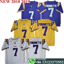 ea70056e6be Men's LSU Leonard Fournette 7 College Jerseys Purple White Yellow Stitched  Size S-3XL free