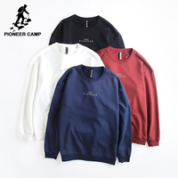 Pioneer Camp simple sweats hommes marque vêtements décontracté lettre survêtement hommes top qualité hoodies pour hommes bleu foncé AWY702445