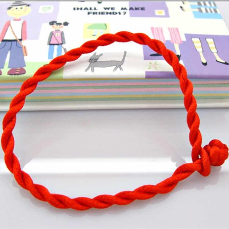 Venda quente moda fio vermelho string pulseira sorte vermelho verde artesanal corda pulseira para mulheres homem jóias amante casal