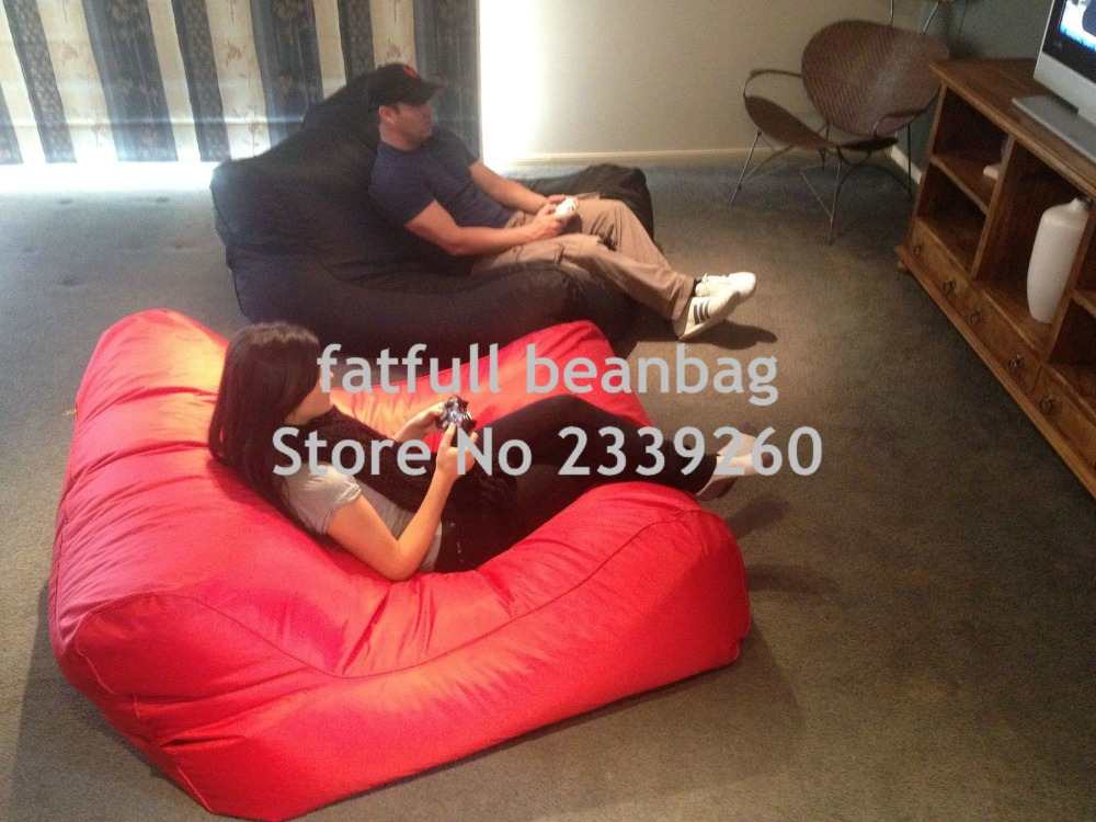 Cover Only No Filler Sunbrella Indoor Outdoor Bean Bag Chair In Red Tv Beanbag R Sofa Lounger Garden Sofas From Furniture On