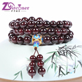 ZIRCONER New Design Natural Boutique Garnet Stone Beaded Gold plated Multi Bracelets For Women Cloisonne Bracelet