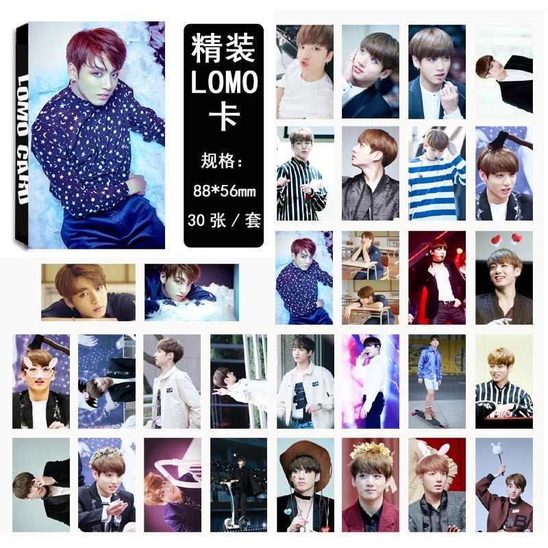 KPOP Bangtan Boys Wings JUNGKOOK V альбом LOMO карты k-pop Новая мода самодельная бумажная фото карта HD Фотокарта