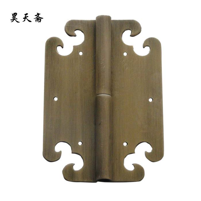 [Haotian vegetarian] Chinese furniture copper fittings / wishful hinge / hinge bookcase / wardrobe hinge HTF-081 [haotian vegetarian] chinese antique door hinge copper hinge htf 108 paragraph three flowers