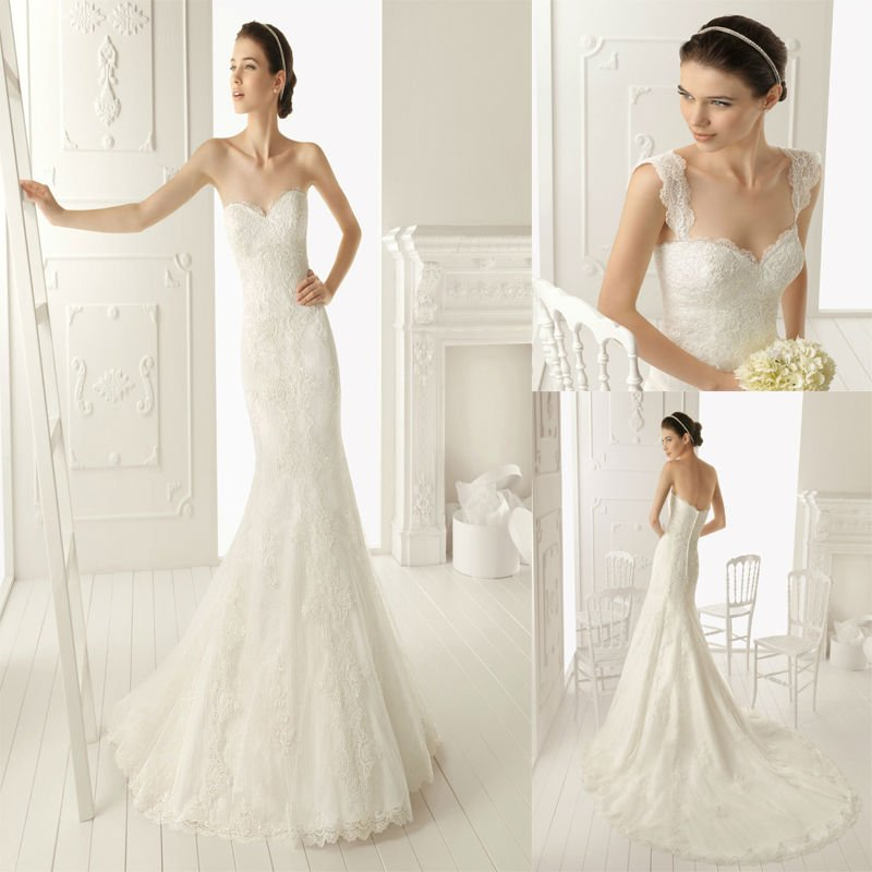 Aliexpress Stunning Sweetheart Removable Straps Mermaid Chapel Train Lace Wedding Dresses From Reliable Princess Style Suppliers
