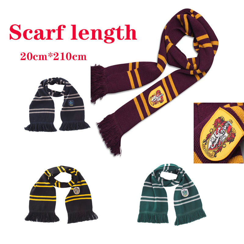 Cosplay Gryffindor Ravenclaw  Slytherin  Hufflepuff  Scarf Hat Gloves Christmas Gift Halloween Costume Child