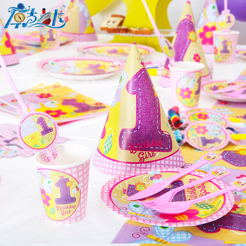 Pink Princess 6 people kids birthday party decoration event party