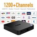 Android 6.0 TV Box CPU Rápida 2 GB RAM y IPTV Libre de Europa árabe Francés Deporte Cielo Cuenta Soporte BT 4.0 Wireless HD IPTV Superior caja