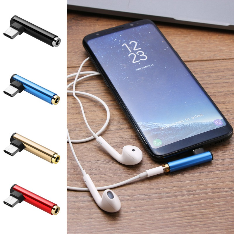 2In1 Headphone Audio Converter Cable USB Type C To 3.5mm AUX Jack Headphone  Charging Cord For SamSung XiaoMi HuaWei
