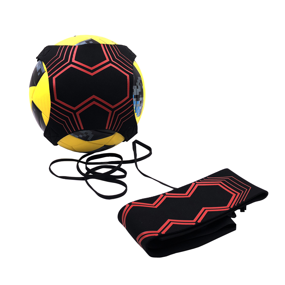 2019 New Football Kick Solo Belt Trainer Kinetic Elastic Cord Stretches Soccer Sports Training Aid Practice Belts Equipment