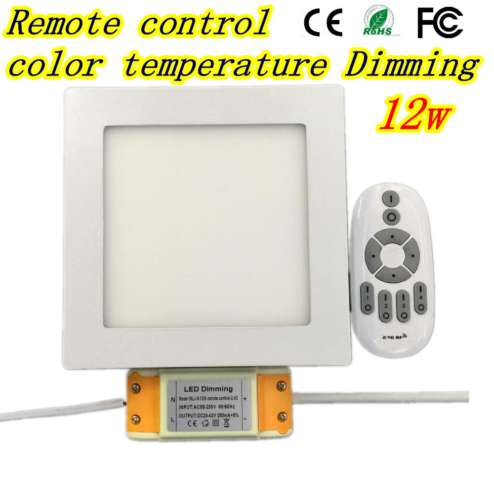DHL Free 2.4G Remote control LED Panel Light 12W ound Surface LED Panel Wall Ceiling Down Light Mount Bulb Lamp for bathroom