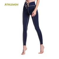 High Waist Compression Running Leggings Drawstring Design Breathable Women Yoga Pants Slim Bodybuilding Plus Size Tights