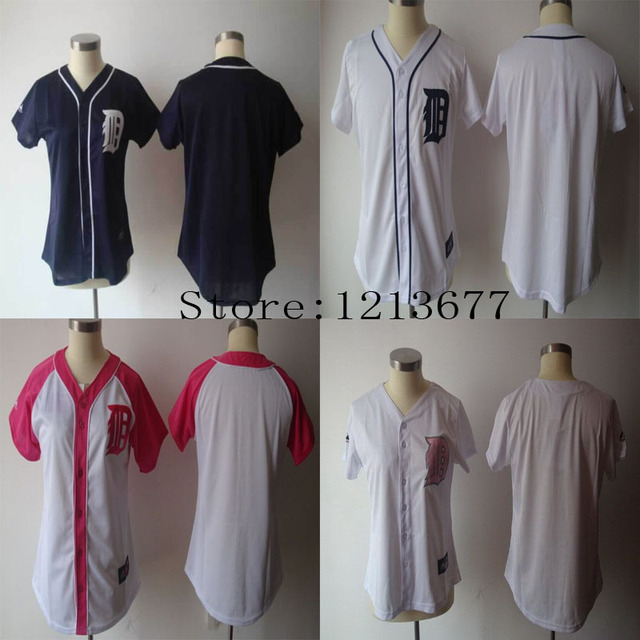 best loved c7c1e a6732 US $19.99 |Free Shipping plain ladies female Detroit Tigers womens blank  jerseys girls shirts with no name no number wholesale Cheap-in Baseball ...