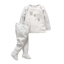 2018 2 pcs Newborn Tender Babies clothes girls boys 100% cotton knitted clothing sets cute cloth set long sleeve t shirt + pants