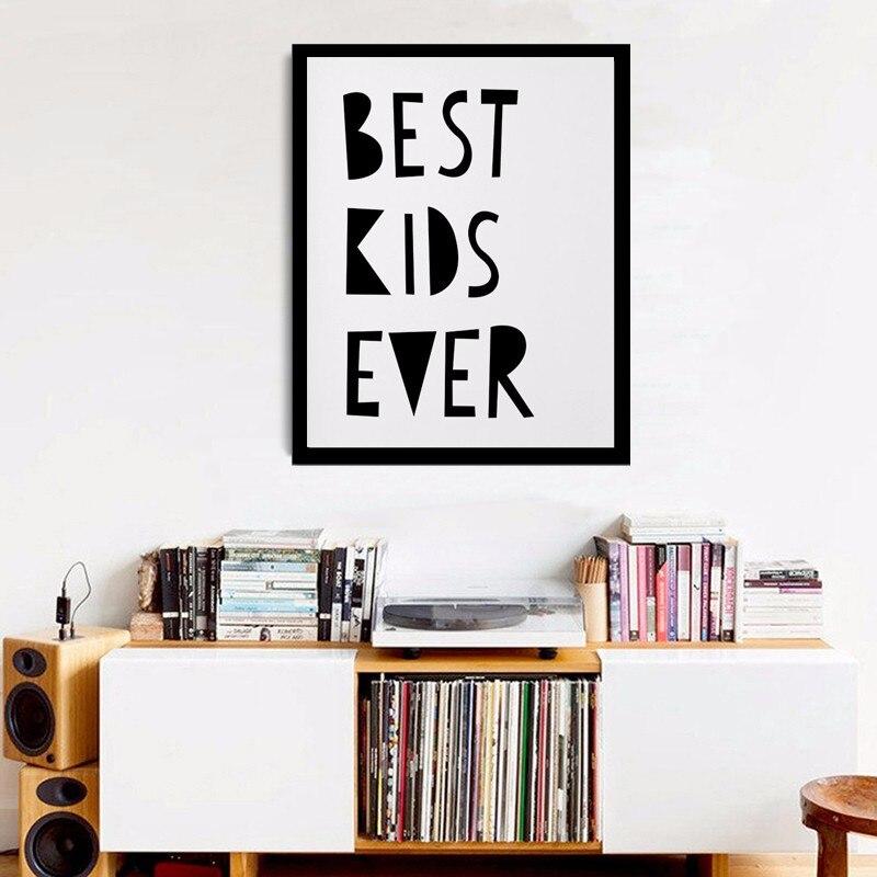 Nejlepší děti všech dob, školky, digitální moderní plakáty na plátně, nástěnné umění, nástěnná dekorace, dekorace pro děti, dětský pokoj, bez rámu
