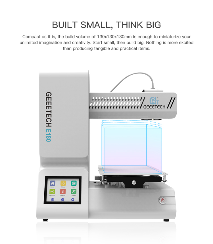 Geeetech E180 3D Printer With Full Colour Touch Screen And Wifi Connectivity 8