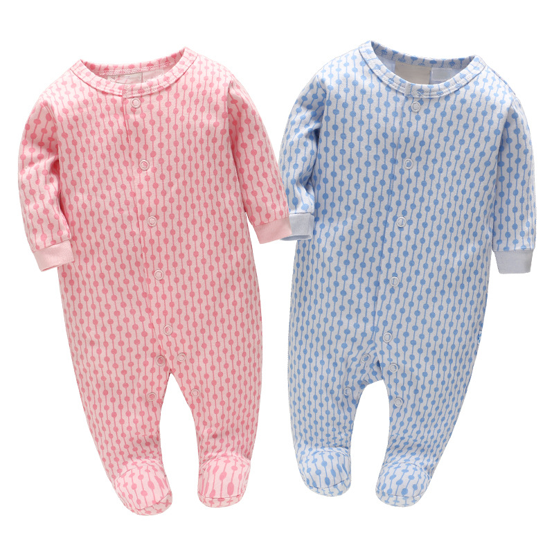 Picturesque Childhood 2018 New Infants Baby Onesie Baby Clothing Cotton Pink and Blue Lo ...